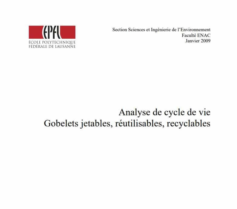 Analyse cycle vie gobelets